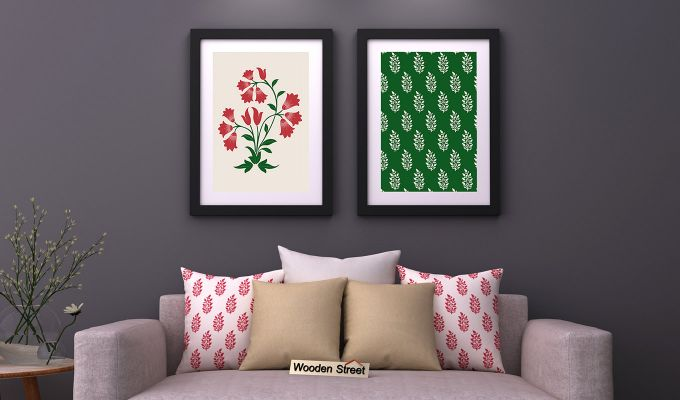 Redoo Spring Bloom Framed Wall Art 1 (Set of 2)-1