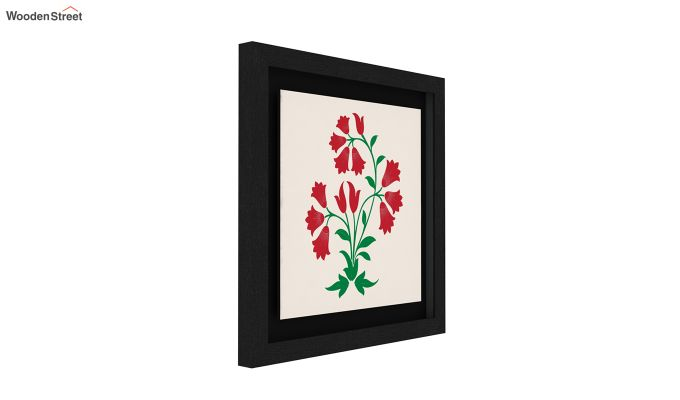 Redoo Spring Bloom Floater Framed Wall Art (Black Finish)-3