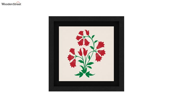 Redoo Spring Bloom Floater Framed Wall Art (Black Finish)-5