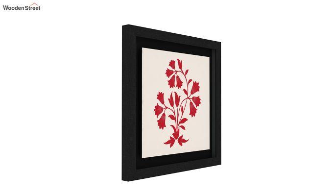 Scarlet Vibes Floater Framed Wall Art (Black Finish)-2