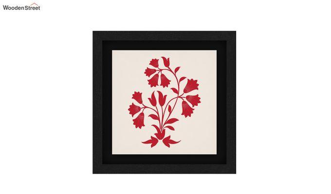 Scarlet Vibes Floater Framed Wall Art (Black Finish)-4