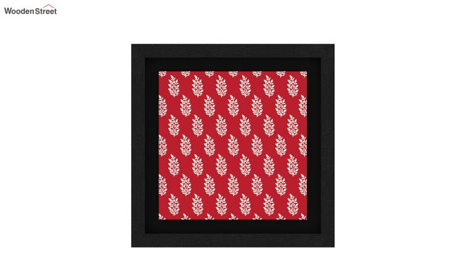 Scarlet Vibes Floater Framed Wall Art (Black Finish)-5