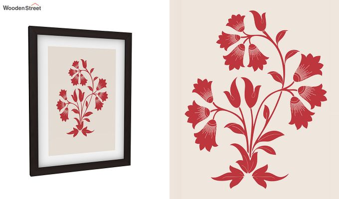 Scarlet Vibes Framed Wall Art (Set of 2)-2