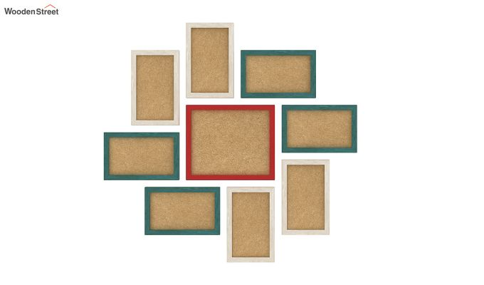 Spinner Frame Collage (Multi-Color) (Red Finish)-2