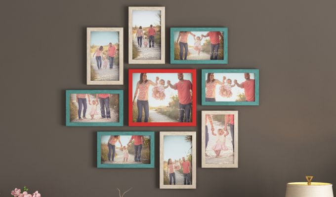 Spinner Frame Collage (Multi-Color) (Red Finish)-1