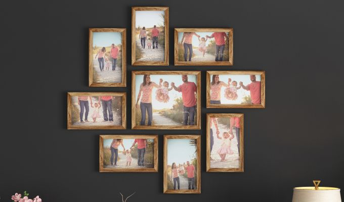 Spinner Frame Collage (Natural Finish) (Natural Finish)-1