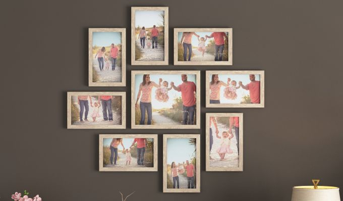 Spinner Frame Collage (White Finish) (White Finish)-1