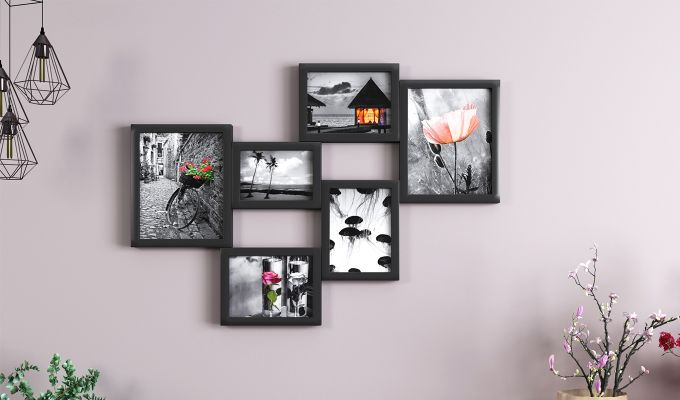 Steppe Frame Collage (Black Finish)-1