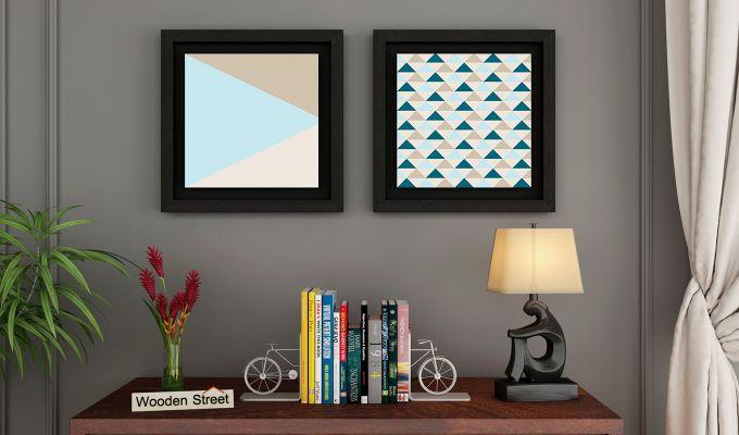 Sugar Pastel Floater Framed Wall Art 2 (Set of 2) (Black Finish)-1