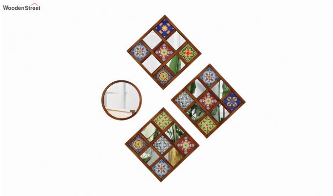 Bohemian Mirror Collage (Honey Finish)-2