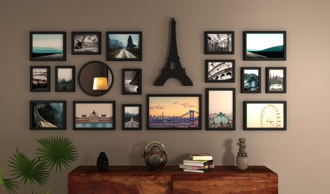 Eiffel Photo Collage (Black Finish)-1