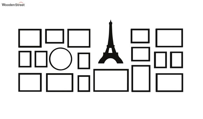 Eiffel Photo Collage (Black Finish)-4