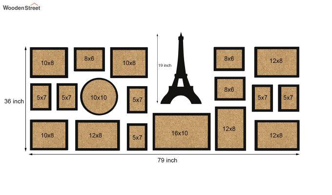 Eiffel Photo Collage (Black Finish)-6