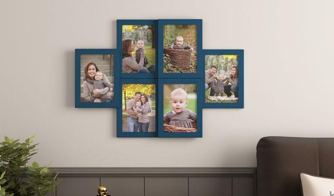 Frozen Photo Collage (Dark Blue Finish) (Dark Blue Finish)-1
