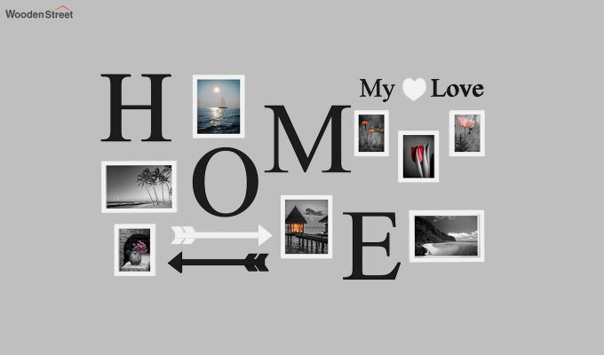 Home Arrow Photo Collage (Black Finish)-2
