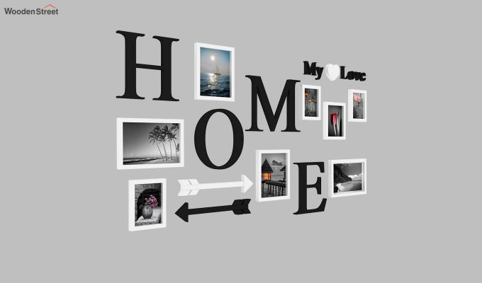 Home Arrow Photo Collage (Black Finish)-3