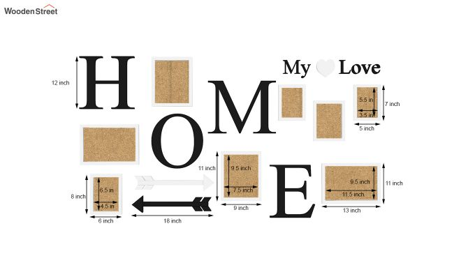 Home Arrow Photo Collage (Black Finish)-5