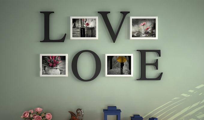 Love Photo Collage (Black Finish)-1