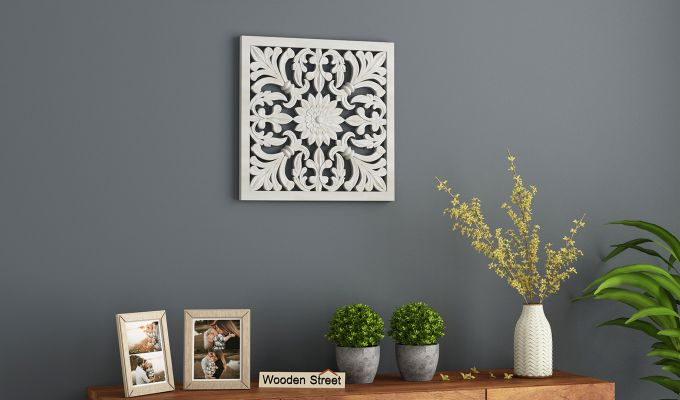 Marie Wall Panel without Glass (White Finish, 16 x 16)-1