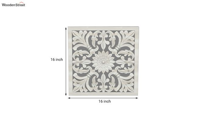 Marie Wall Panel without Glass (White Finish, 16 x 16)-4