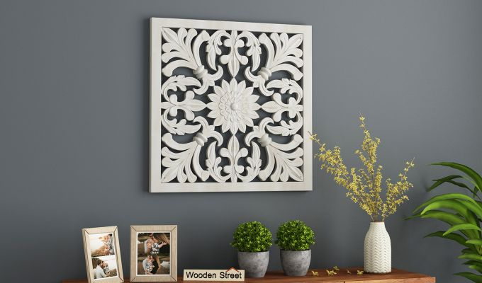 Marie Wall Panel without Glass (White Finish, 24 x 24)-1