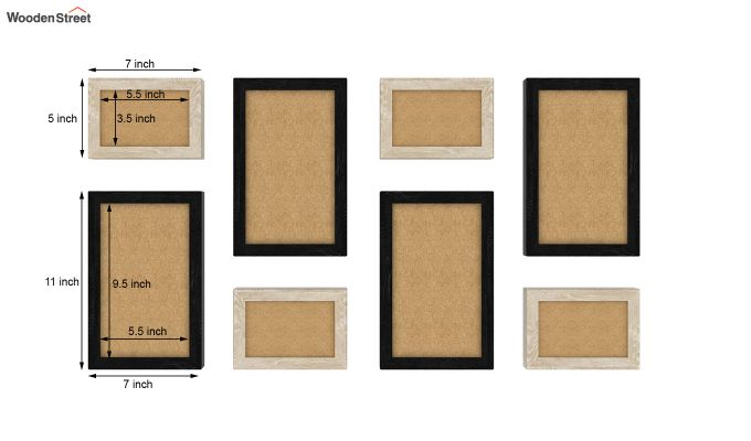 Ripple Photo Collage (Black - White) (Black Finish)-3