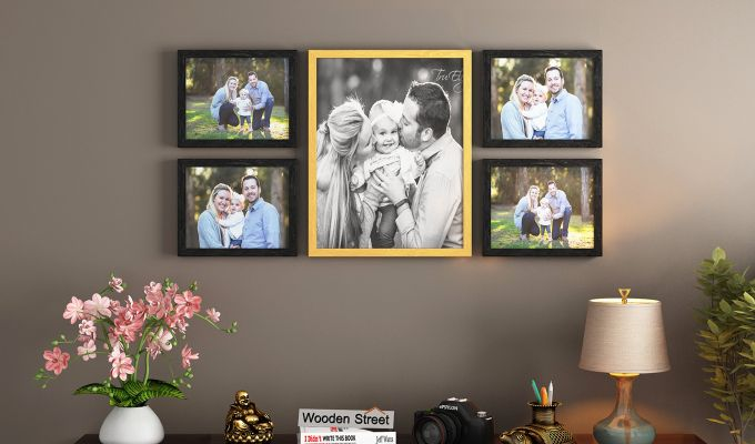Symmetry Photo Collage (Multi-Color) (Black Finish)-1