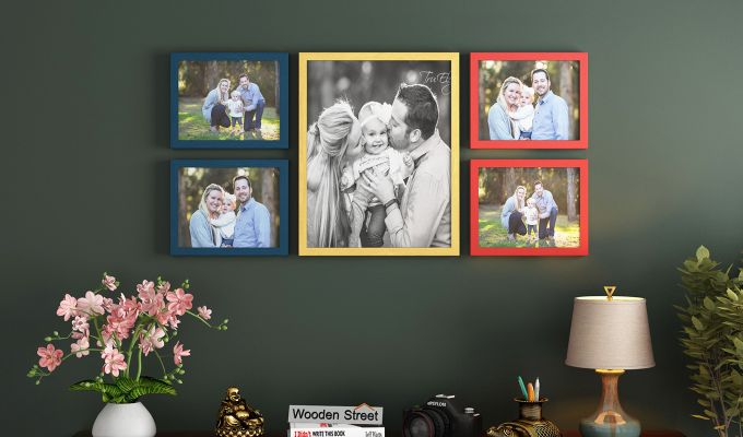 Symmetry Photo Collage (Multi-Color) (Blue Finish)-1