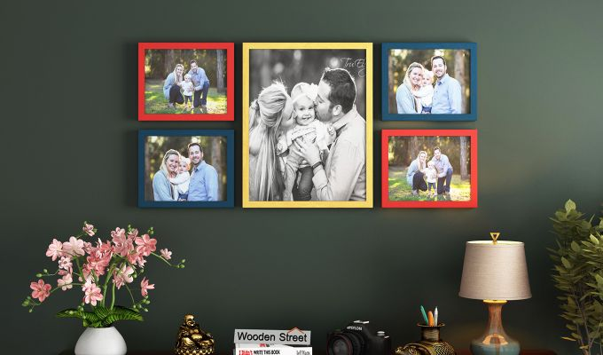 Symmetry Photo Collage (Multi-Color) (Red Finish)-1