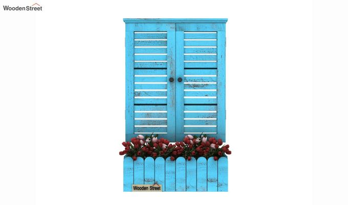 Lapis Wooden Window Frame (Blue Distress) (Blue Distress Finish)-2
