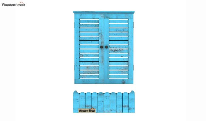 Lapis Wooden Window Frame (Blue Distress) (Blue Distress Finish)-5