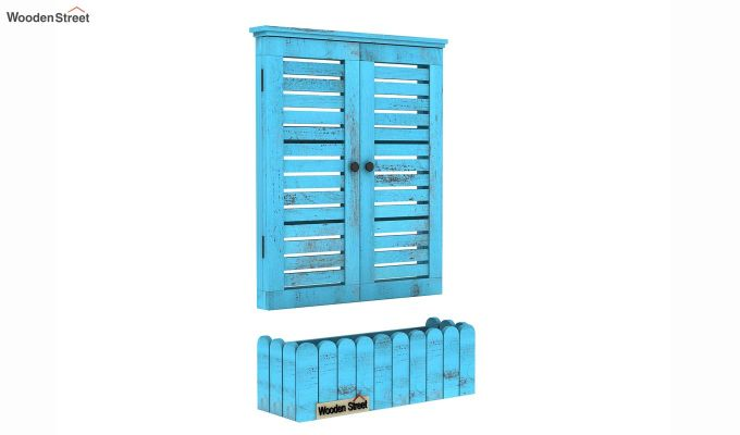 Lapis Wooden Window Frame (Blue Distress) (Blue Distress Finish)-6