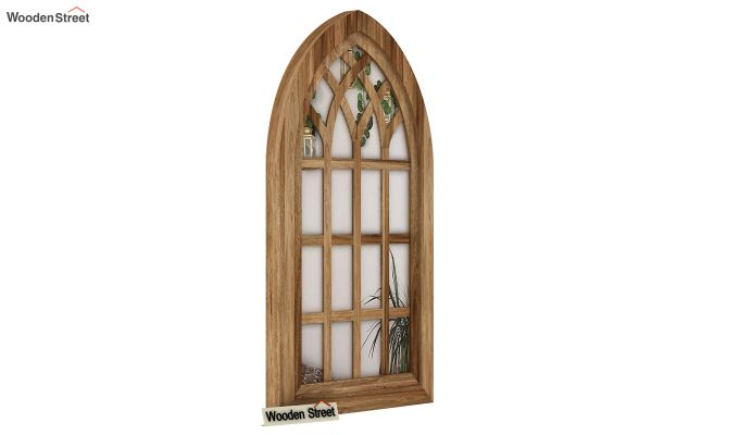 Libro Wooden Window Frame With Mirror (Mango Finish) (Natural Finish)-2
