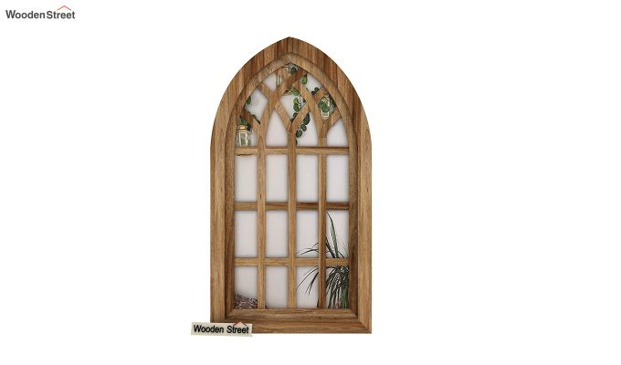 Libro Wooden Window Frame With Mirror (Mango Finish) (Natural Finish)-3