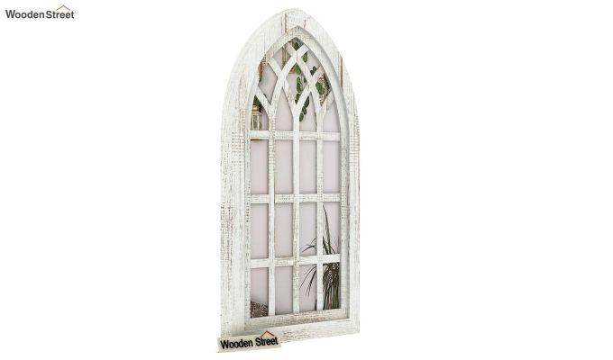 Libro Wooden Window Frame With Mirror (White Finish) (White Finish)-2