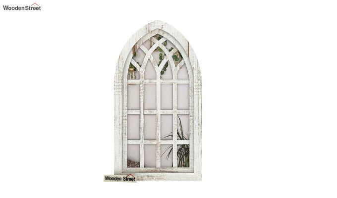 Libro Wooden Window Frame With Mirror (White Finish) (White Finish)-3