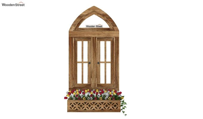 Libros Wooden Window Frame (Natural Finish) (Natural Finish)-2