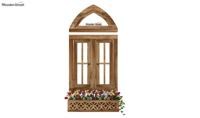 Libros Wooden Window Frame (Natural Finish) (Natural Finish)-3