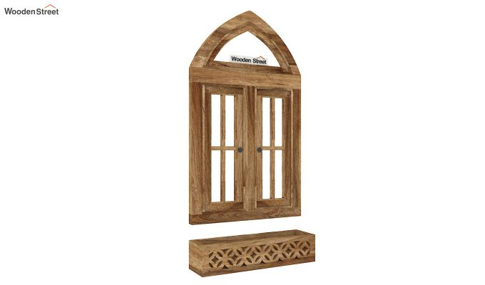 Libros Wooden Window Frame (Natural Finish) (Natural Finish)-4