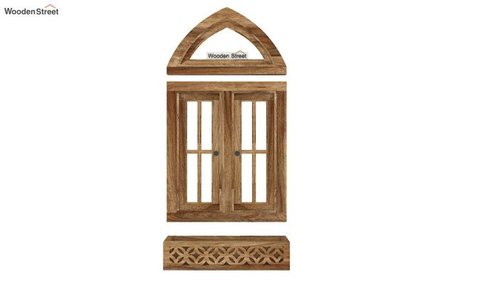 Libros Wooden Window Frame (Natural Finish) (Natural Finish)-6