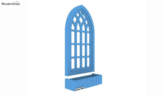 Minar Wooden Window Frame (Blue Distress) (Blue Distress Finish)-2