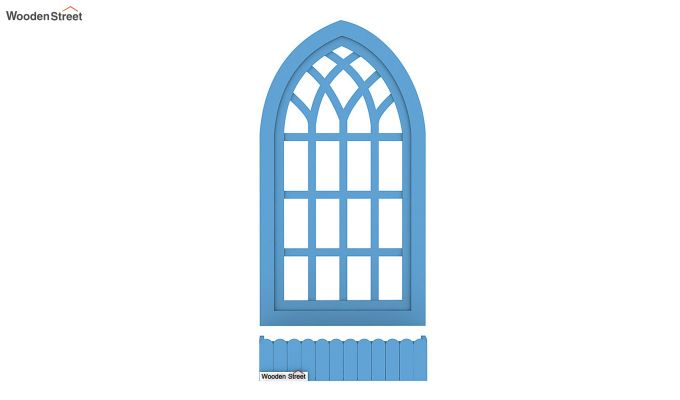 Minar Wooden Window Frame (Blue Distress) (Blue Distress Finish)-4