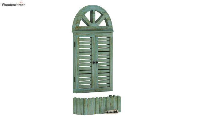 Pinot Wooden Window Frame (Distress Pista Green) (Distress Green)-2