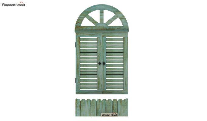 Pinot Wooden Window Frame (Distress Pista Green) (Distress Green)-3