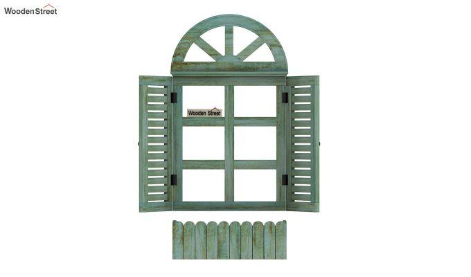 Pinot Wooden Window Frame (Distress Pista Green) (Distress Green)-5