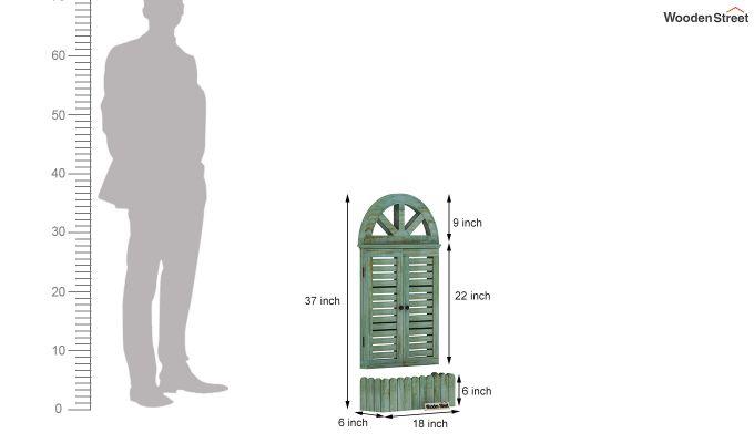 Pinot Wooden Window Frame (Distress Pista Green) (Distress Green)-6