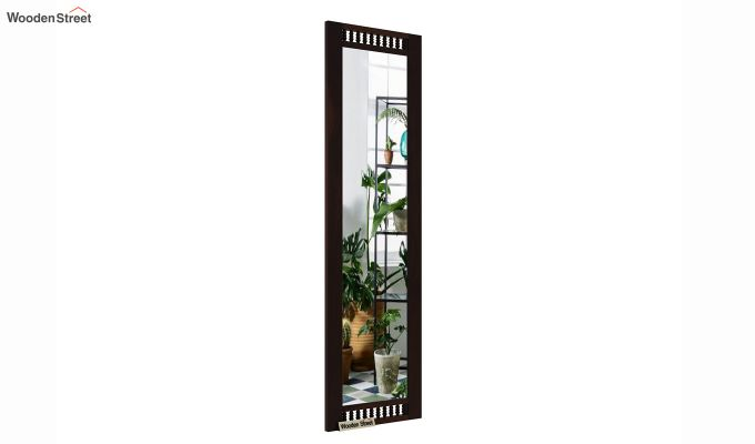 Alanis Tall Mirror With Frame (Walnut Finish)-2