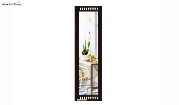 Alanis Tall Mirror With Frame (Walnut Finish)-3