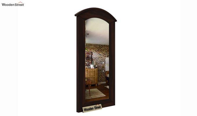 Arc Mirror with Frame (Walnut Finish)-2