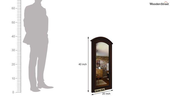 Arc Mirror with Frame (Walnut Finish)-4